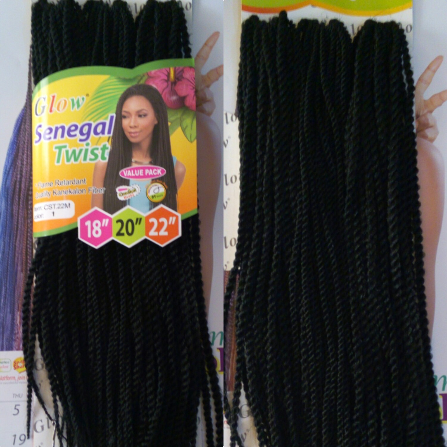 18-22'' GLOW SENEGAL TWIST