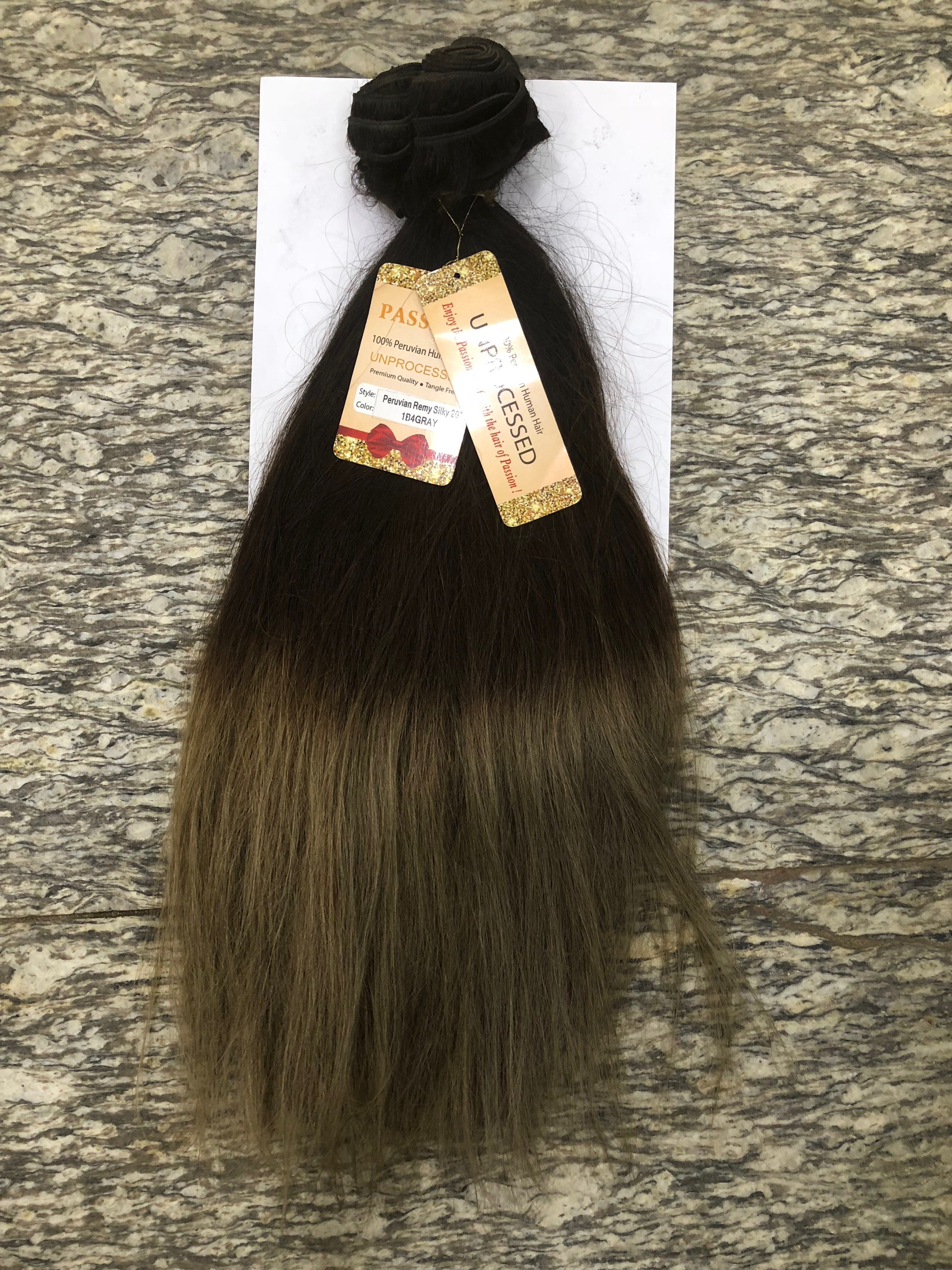 "20"" PASSION unprocessed HUMAN HAIR"